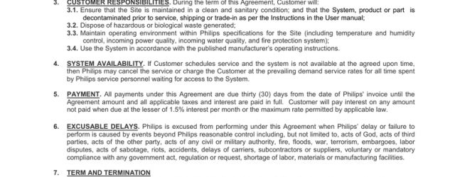 Service Agreement Terms And Conditions Philips Healthcare Service Agreement Terms And Conditions Manualzz