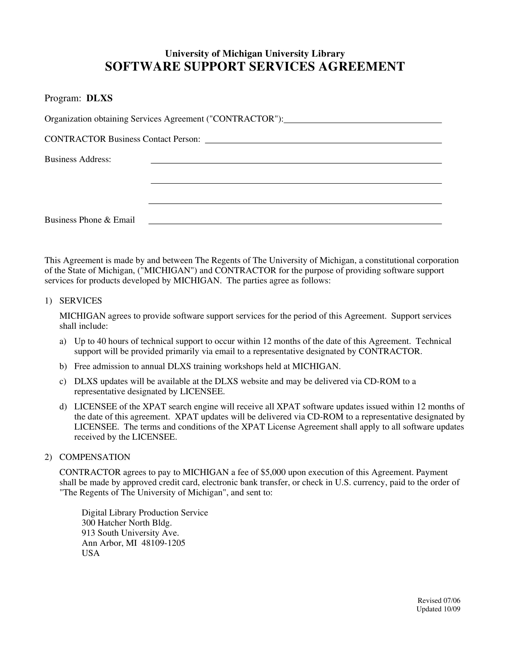 Software Agreement Contract 4 Software Agreement Contract Forms Pdf Doc