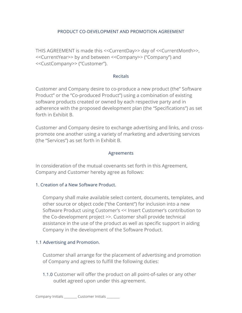 Software Agreement Contract Software Co Development Contract 3 Easy Steps