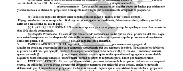 Spanish Lease Agreement Residential Lease Agreement Spanish