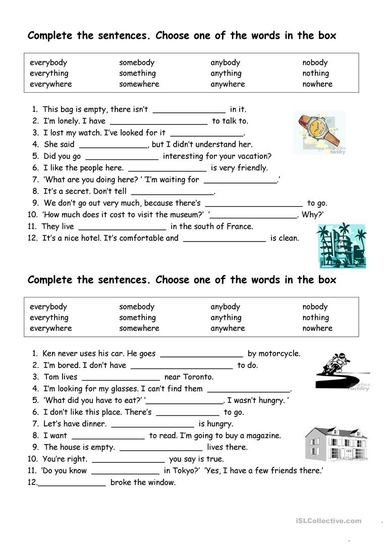 Subject Verb Agreement For Indefinite Pronouns English Esl Indefinite Pronouns Worksheets Most Downloaded 34