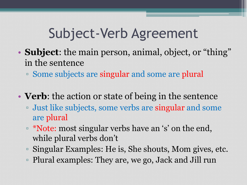 Subject Verb Agreement For Indefinite Pronouns Subject Verb Agreement