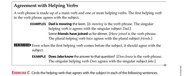 Subject Verb Agreement Quiz With Answer Keys Chapter 8 Agreement Subject Verb Agreement Pages 1 12 Text