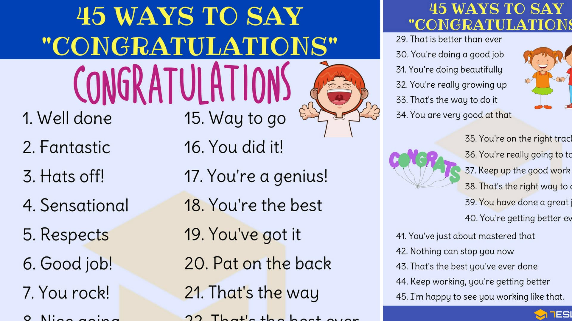 Synonym For In Agreement Congratulations Synonym 45 Ways To Say Congratulations 7 E S L