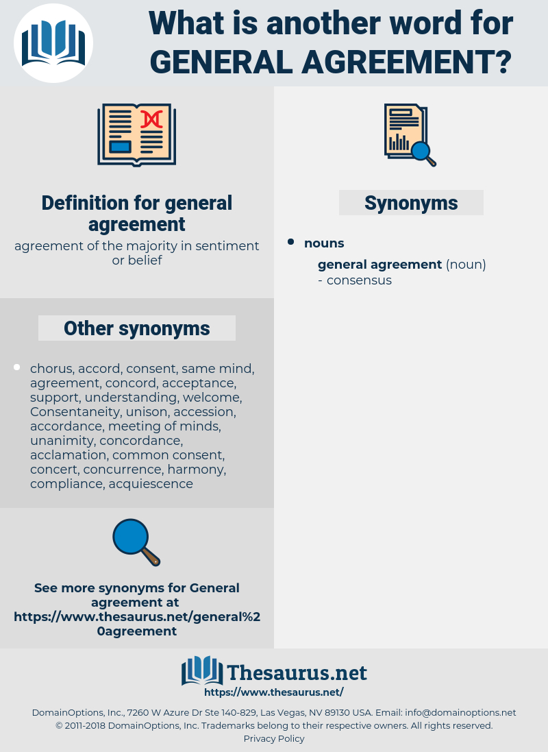 Synonym For In Agreement Synonyms For General Agreement Thesaurus