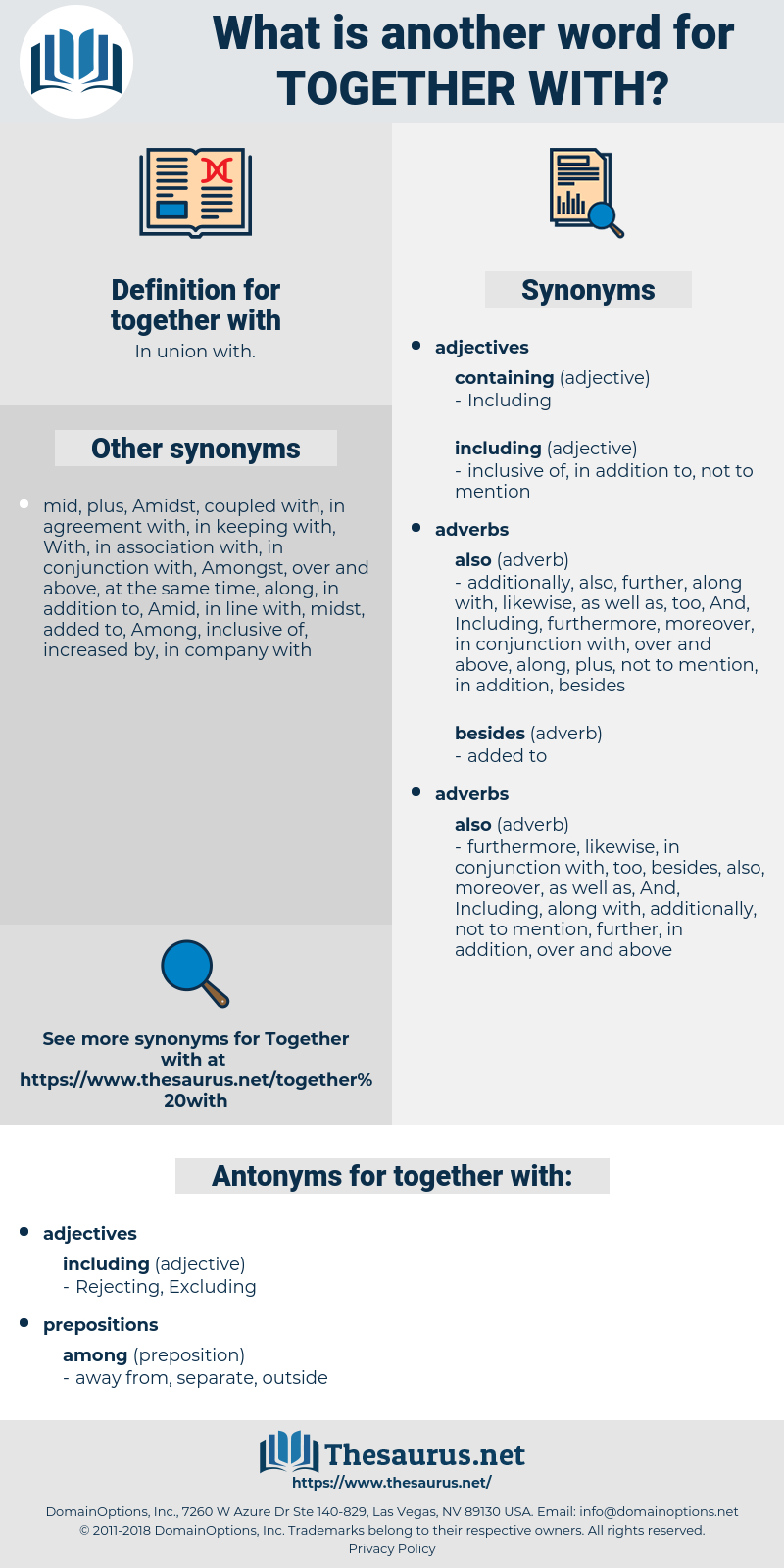 Synonym For In Agreement Synonyms For Together With Antonyms For Together With Thesaurus
