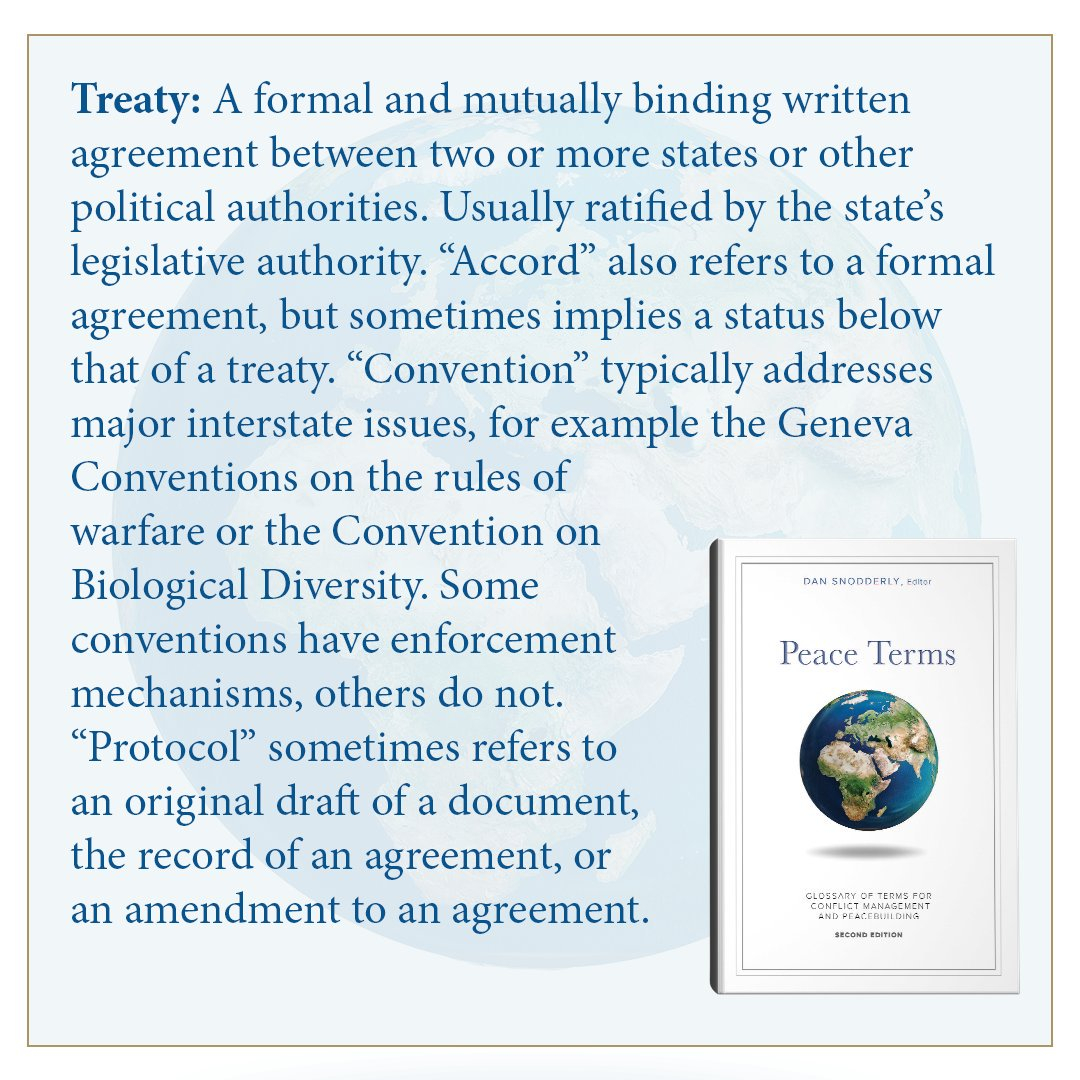 Synonym For In Agreement Us Institute Of Peace On Twitter Armistice An Agreement To Stop