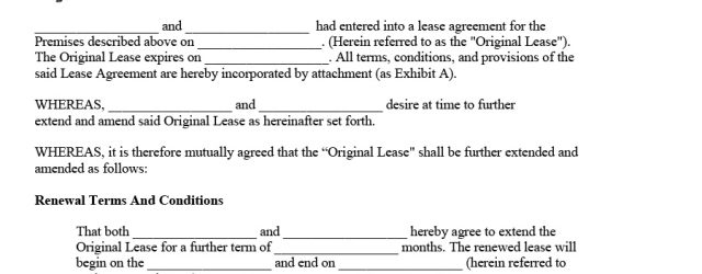 Tenancy Agreement Extension Letter 36 Best Lease Renewal Letters Forms Word Pdf Template Lab
