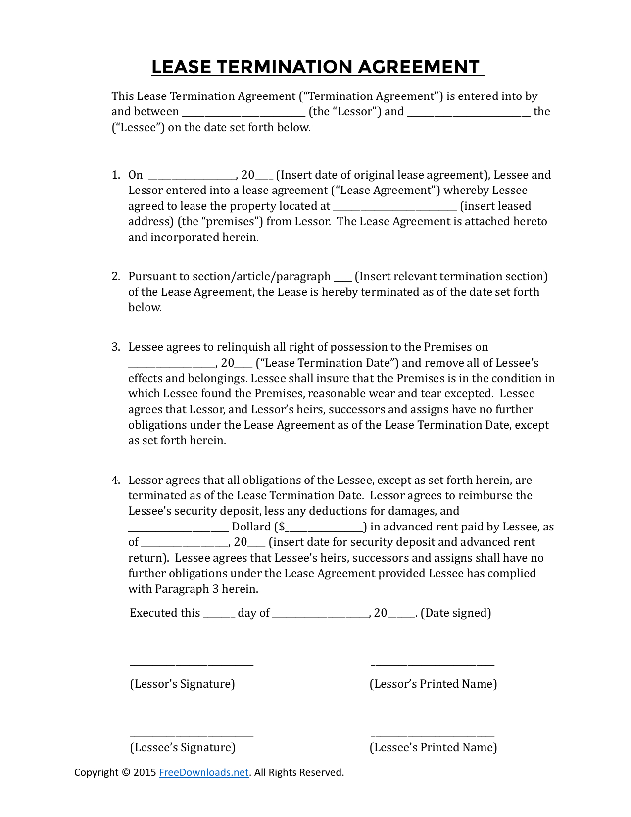 Termination Of Lease Agreement 003 Template Ideas Termination Of Lease Agreement Fascinating Rental