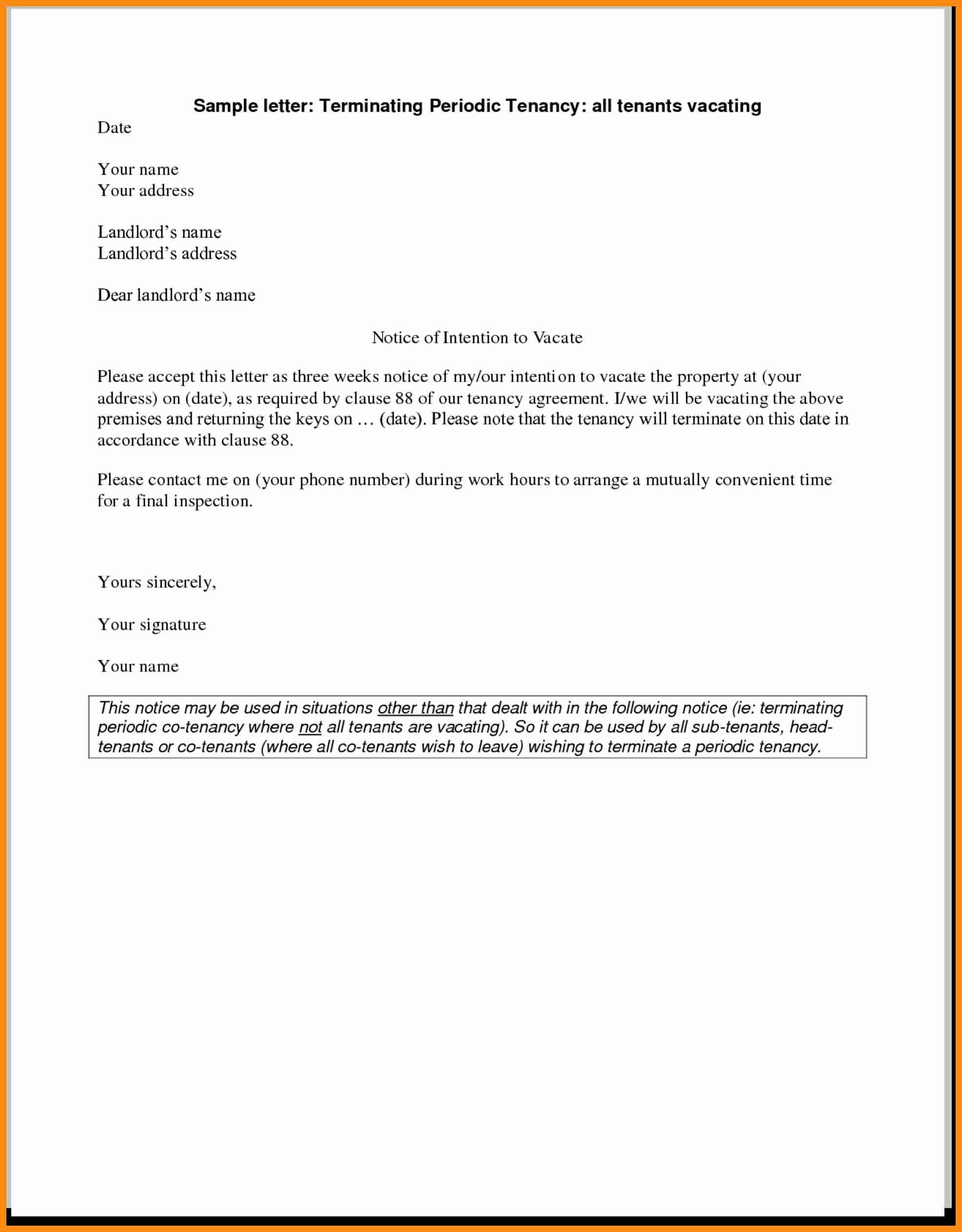 Termination Of Lease Agreement A Resume Templates Sample Termination Lease Agreement Letter From