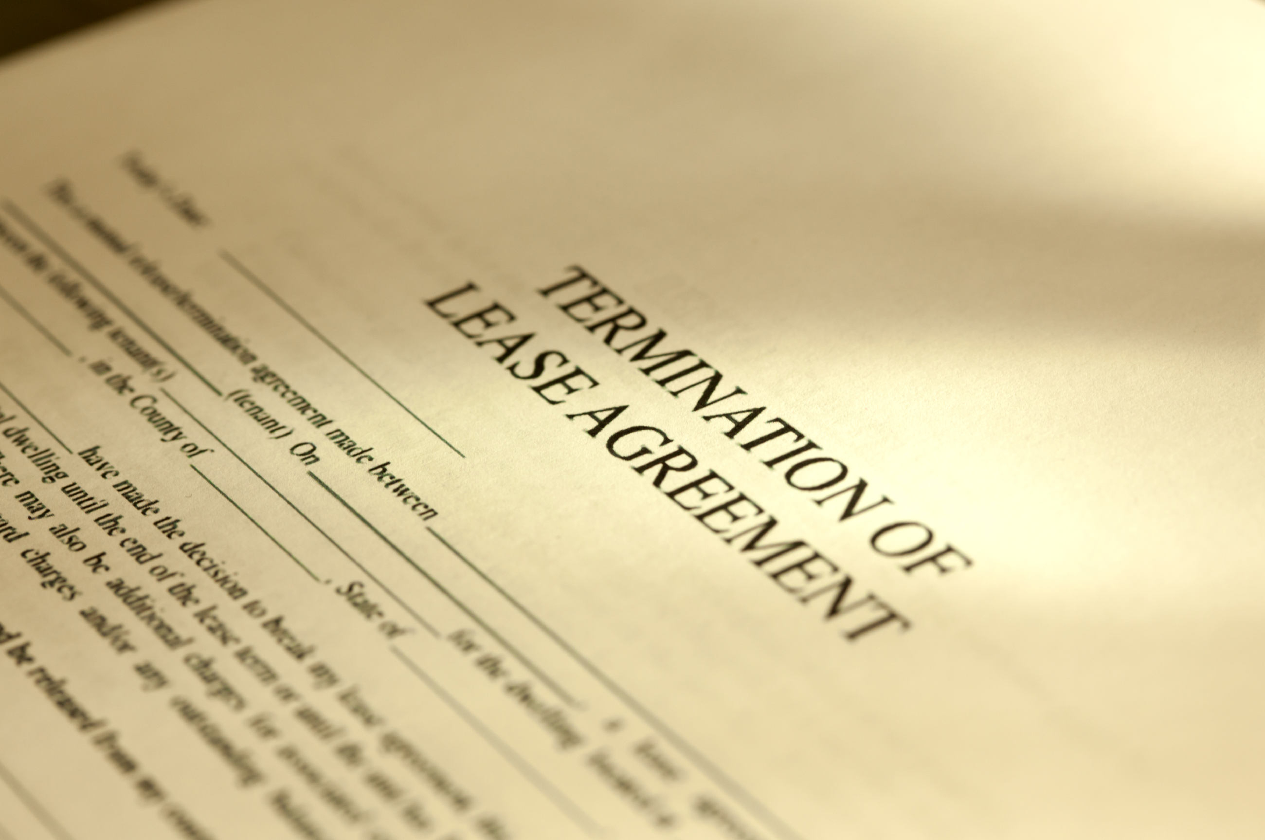 Termination Of Lease Agreement Document Notice To Terminate Lease Agreement