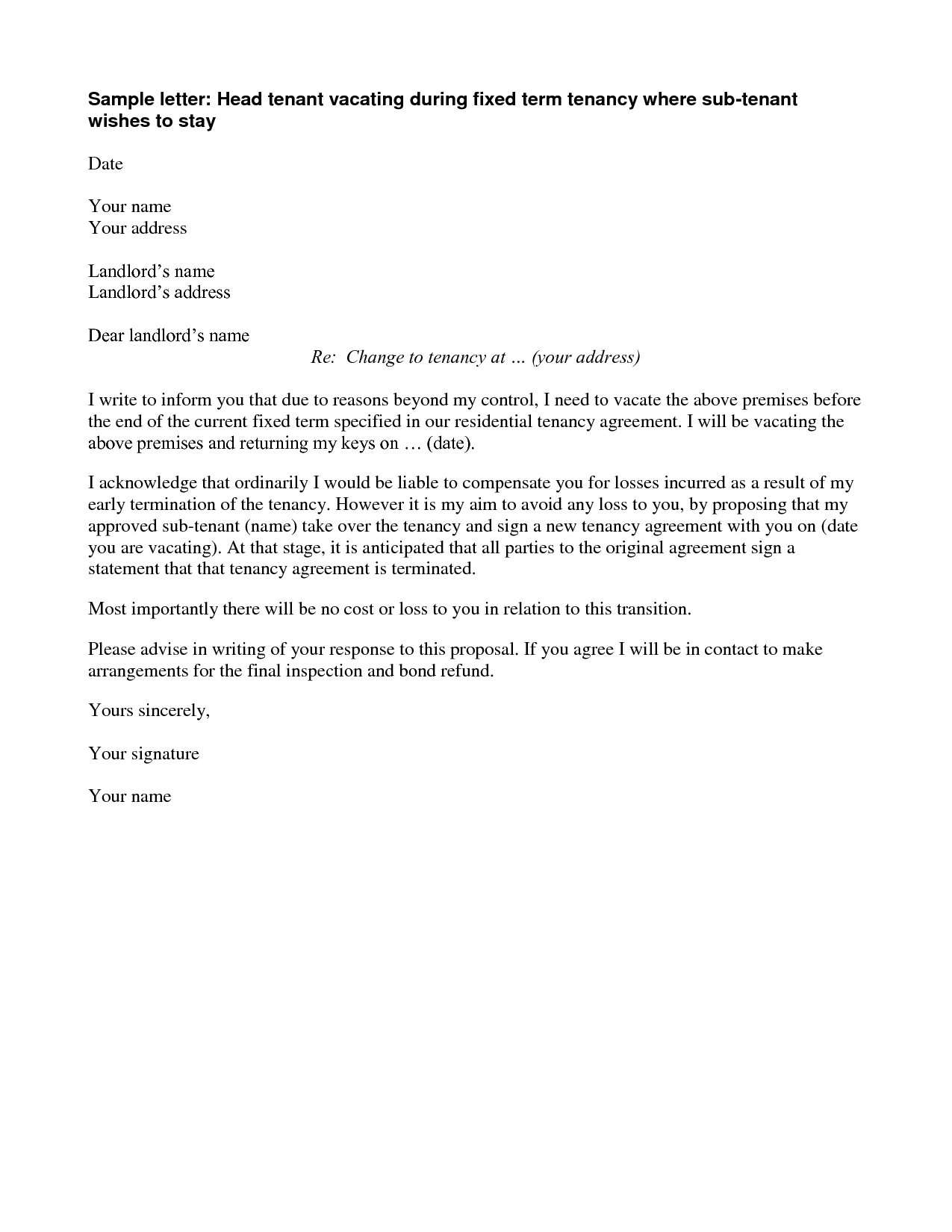 Termination Of Lease Agreement Example Of Letter To Terminate Lease Mamiihondenk