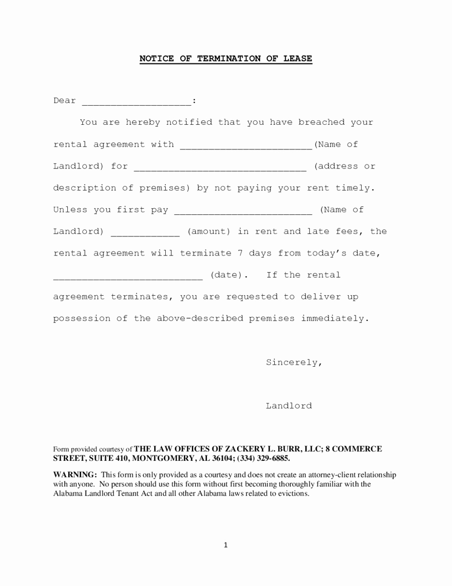 Termination Of Lease Agreement Rental Agreement Termination Letter New 2019 Lease Termination Form