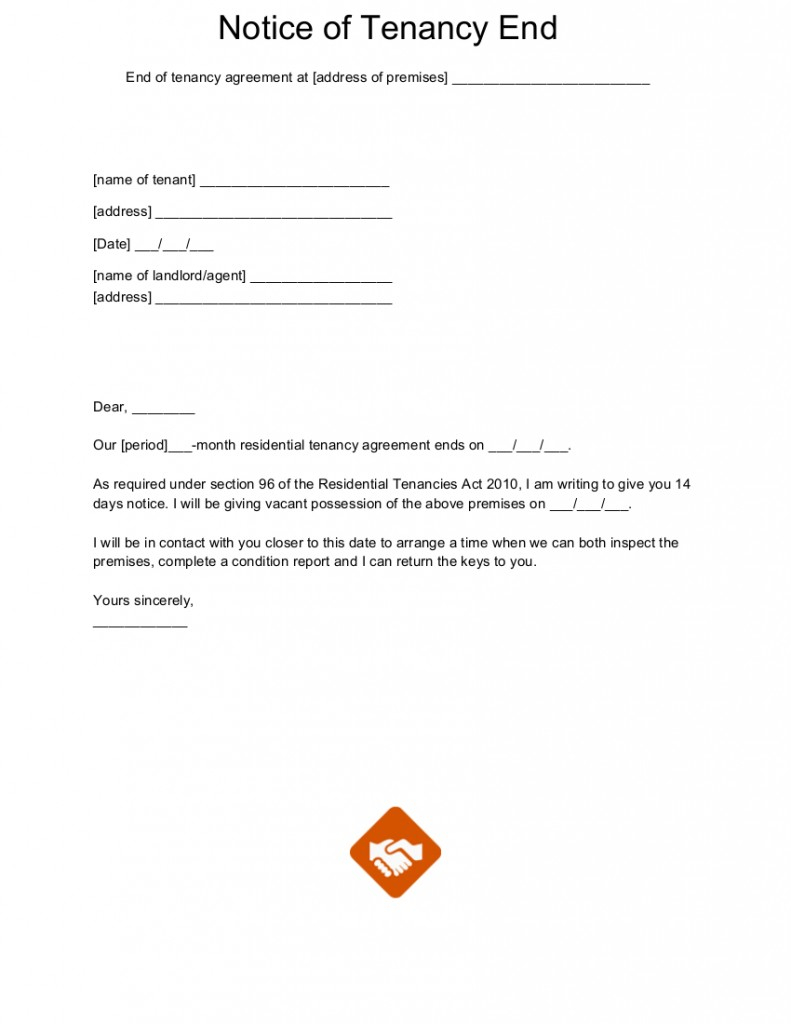 Termination Of Lease Agreement Rental Agreement Termination Letter Sample Lease From Landlord