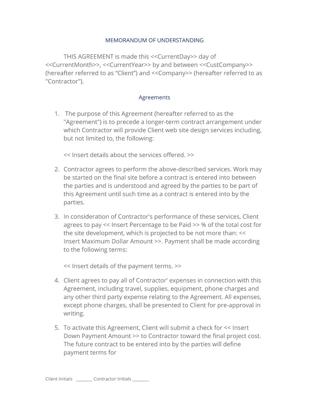 Writing Contract Agreement Pre Contract Design Protection Agreement 3 Easy Steps