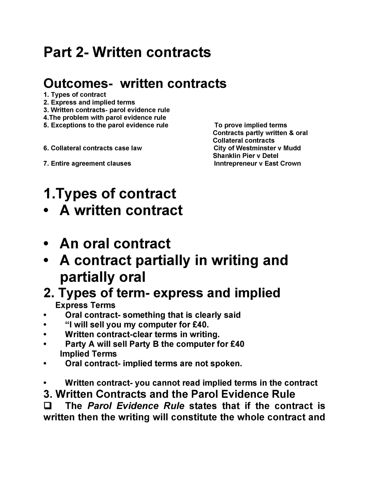 Writing Contract Agreement Terms Part 2 Lsbm108 Contract Law Studocu